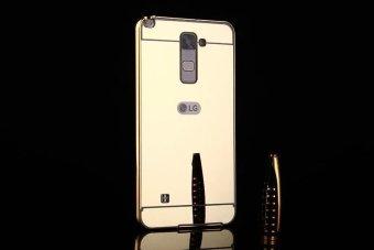 Metal Frame Mirror Back Cover Case For LG Stylus2 Plus (Gold) -intl - 4