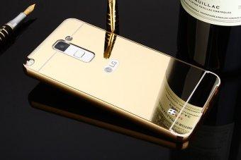 Metal Frame Mirror Back Cover Case For LG Stylus2 Plus (Gold) -intl - 2