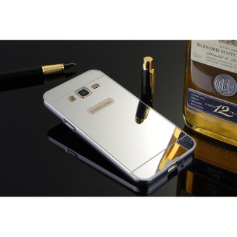 Metal mirror border Back Case Cover For Samsung Galaxy J3 (2016)(silver) - intl