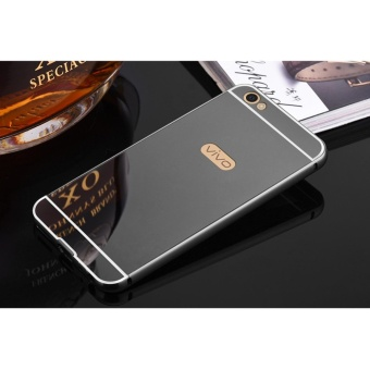 Metal mirror border Back Case Cover For Vivo v5 plus (black) - intl