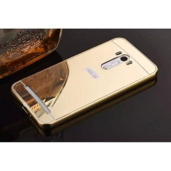 Metal mirror border Back Cover case For A sus Zenfone Selfie ZD551KL (gold) - intl
