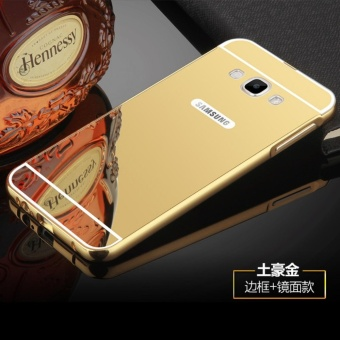 Metal mirror border Back Cover case For S amsung Galaxy A8 2015 (gold) - intl