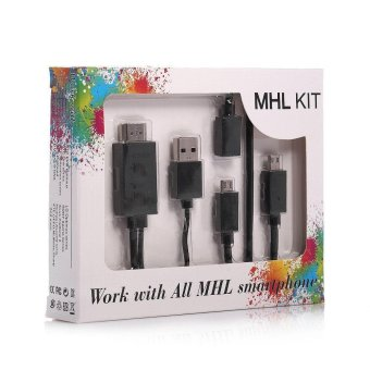 MHL Kit Universal MHL Micro USB to HDMI Cable 6.5 Feet / 2M 1080P HDTV Adapter - intl