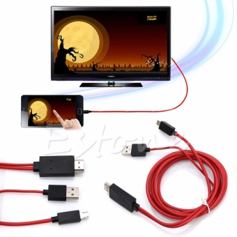 MHL Micro USB to HDMI 1080P HD TV Cable Adapter for Samsung Galaxy S4 S5 Note 2 - intl