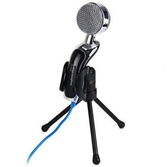 Mic Studio Audio Sound Recording usb microphone CondenserMicrophone with Microphone Stand for computer Laptop - Intl - 3