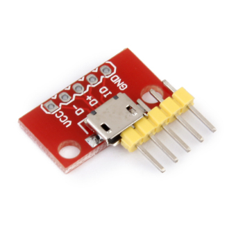 Micro-B USB Breakout Signals Board Phone Power charging converter Module Red - picture 2