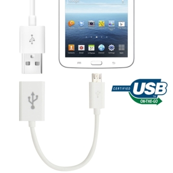 Micro USB OTG Connection Cable - White