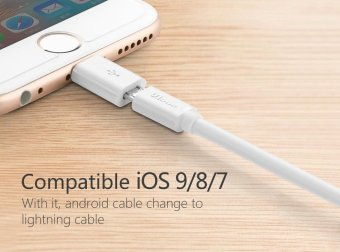 Micro Usb to 8 pin Adapter For Lightning Cable Original For PhoneAir iOS Charging Cable Fast Short - intl - 5
