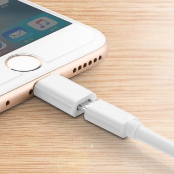 Micro Usb to 8 pin Adapter For Lightning Cable Original For PhoneAir iOS Charging Cable Fast Short - intl
