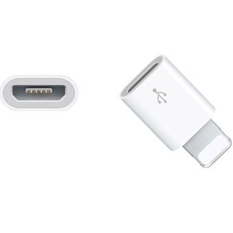 Micro Usb to 8 pin Adapter For Lightning Cable Original For PhoneAir iOS Charging Cable Fast Short - intl - 2