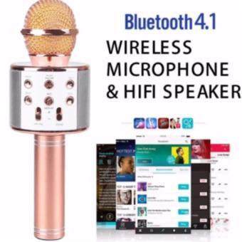 Microphone Wireless KTV Karaoke Bluetooth Handheld Mic HIFI Speaker(Rose Gold) WS858 - 2