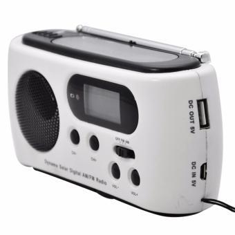 Miimall RD612 Mini Portable Hand Crank Dynamo FM/AM Radio (White) - intl - 5