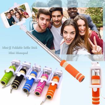 mini jj foldable selfie stick mini monopod orange lazada ph. Black Bedroom Furniture Sets. Home Design Ideas