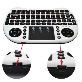 Mini USB Wireless Keyboard Touchpad Air Mouse Fly Mouse Remote Control for Android Windows TV Box PC Pad Cellphone White - 5