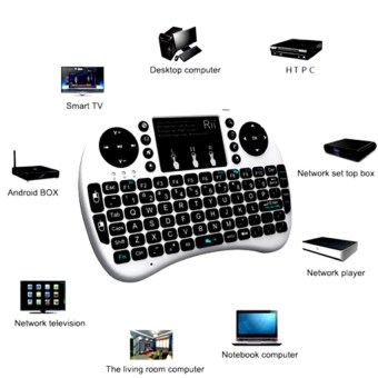 Mini USB Wireless Keyboard Touchpad Air Mouse Fly Mouse RemoteControl for Android Windows TV Box PC Pad Cellphone Black - 3