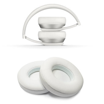misodiko Replacement Headphone Earpads Cushions compatible forBeats Solo 2.0 (White) - intl. - 4