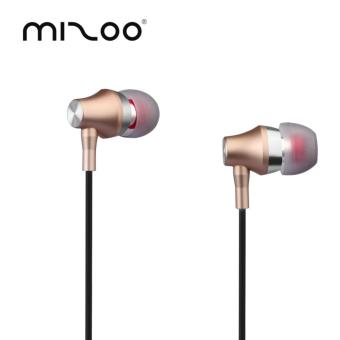 MIZOO G5 Earphones 3.5MM With Mic Stereo Bass {gold}