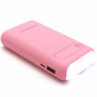 MODEALL M-03 20000mah LCD Display Dual Port PowerBank withFlashlight (Pink) - 5