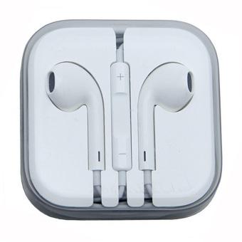 Model Stereo Earphone for iPhone-(White)