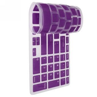 Moonar NEW US Keyboard Skin Cover Protector Film for DELL New Inspiron 15R N5110 M5110 (Purple) Price Philippines