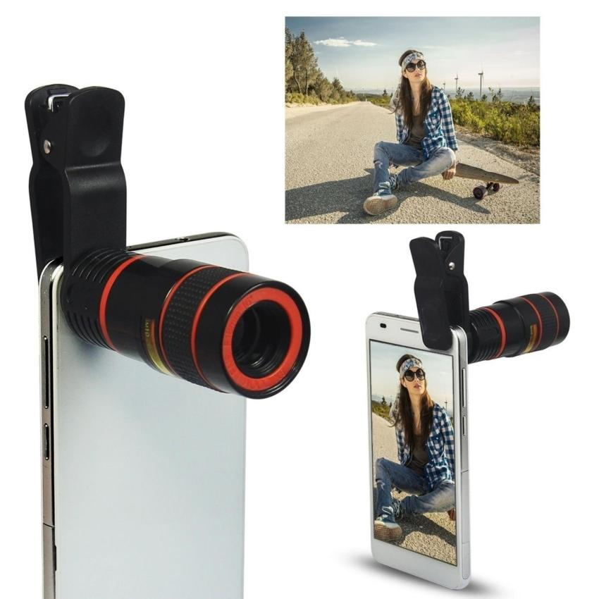 Moonar Universal Optical Zoom Telescope Camera Lens Clip Mobile Phone Lense (12X) - intl Price Philippines