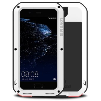 Mooncase Case For Huawei P10 Plus Waterproof,Shockproof SnowproofDustproof Durable Aluminum Metal Gorilla Heavy Duty Full-bodyProtection Case White - intl