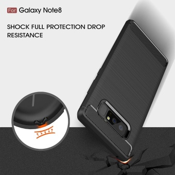 Mooncase Case for Samsung Galaxy Note 8 Carbon Fiber Resilient DropProtection Anti-Scratch Rugged Armor Case Red - intl - 4