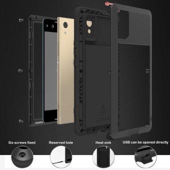 Mooncase Case For Sony Xperia XA1 Waterproof,Shockproof SnowproofDustproof Durable Aluminum Metal Gorilla Heavy Duty Full-bodyProtection Case Silver - intl - 4