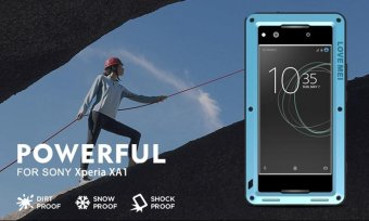 Mooncase Case For Sony Xperia XA1 Waterproof,Shockproof SnowproofDustproof Durable Aluminum Metal Gorilla Heavy Duty Full-bodyProtection Case Silver - intl - 2