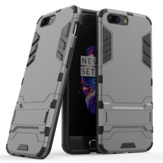 MOONCASE for OnePlus 5 2 in 1 Hybrid Rugged Armor Defender CasesCovers Slim Thin Bumper Anti