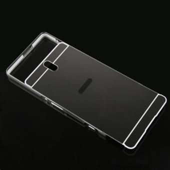 Moonmini Hard PC Cover Mirror Metal Frame Bumper Case for SonyXperia C5 (Dark Grey) - 5