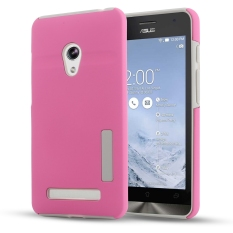 Moonmini Hybrid Combo Shockproof Back Case Cover for Asus Zenfone 5(Pink)