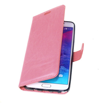 Moonmini PU Leather Flip Stand Case Wallet Cover for Samsung GalaxyNote 5 (Pink) - 5