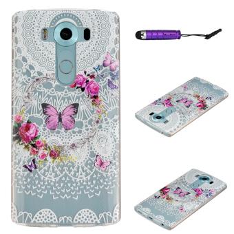 Moonmini TPU Soft Back Case Cover for LG V10 Multicolor