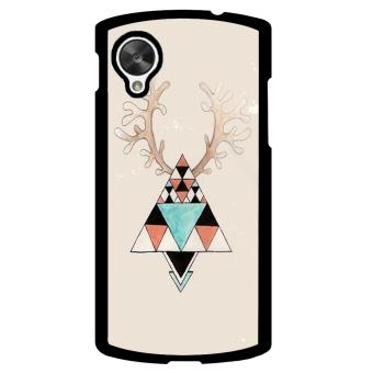 Moose Pattern Phone Case for LG Nexus 5 (Beige)