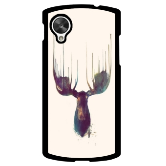 Moose Pattern Phone Case for LG Nexus 5 (Multicolor)