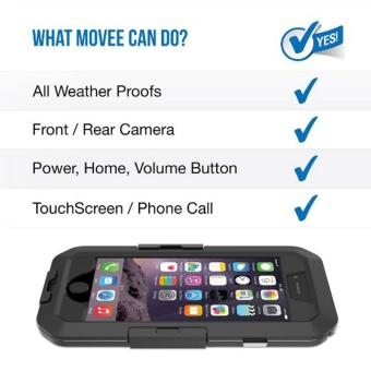 Motorcycle Handlebar Mount Holder for Apple iPhone 6 / 6s Plus 5.5 inch Bike Phone Holder Support Waterproof Case (Black For i6 6S PLUS) - intl - 5