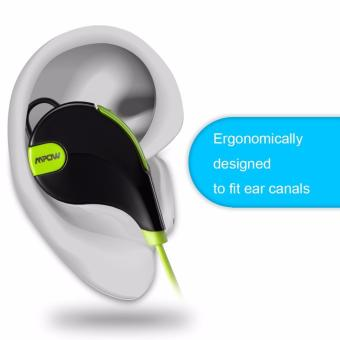 Mpow Swift Bluetooth Headphone 4.0 Stereo Sweat proof Sport w/ MicCalling Hands-free (Black/Green) - 3