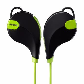 Mpow Swift Bluetooth Headphone 4.0 Stereo Sweat proof Sport w/ MicCalling Hands-free (Black/Green) - 2