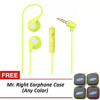 Mr. Right S10 11dB Original SuperBass Smart In-Ear Headphones(Green) with free Mr. Right Earphone Case (any color) Price Philippines