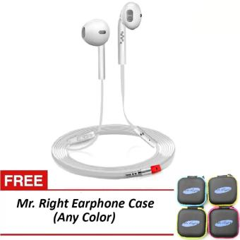 Mr. Right Z600 11dB Original SuperBass Intelligent In-EarHeadphones (White) with free Mr. Right Earphone Case (any color) Price Philippines