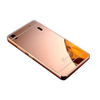 Msvii Metal Frame with Mirror Plating Back Case for Lenovo A7000(Rose Golden)