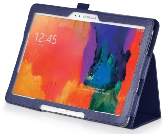 Multi-Angle Stand Slim-Book PU Leather Case Cover with Stylus SlotHolder Auto Sleep/Wake for Samsung Galaxy Tab Pro 10.1 SM-T520 T525/ Samsung Galaxy Note 10.1 (2014 Edition) - intl - 3
