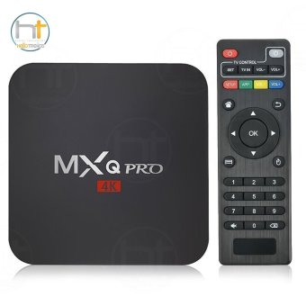 MXQ Pro 4K Ultra HD TV Box Wireless Wifi Quad Core Android Lolipop 5.1 Smart Streaming Media Player (Black)
