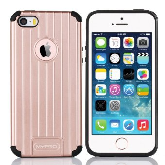 Mypro Venus series Hard PC/ Soft TPU Dual Layer Shockproof Anti-slip Cover for Apple iPhone 5/5s/SE (Rose Gold) - picture 2