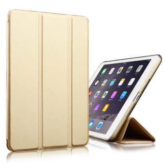 Mypro Young Series Ultra Slim Smart Cover with Auto Sleep/WakeFunction for Apple iPad Mini 4 (Gold) - 2