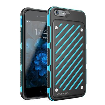 "Mypro Z-Sword Series Antiskid Shock Absorption Bumper Protective Case For iPhone 6 Plus/6s Plus 5.5"" (Blue)"