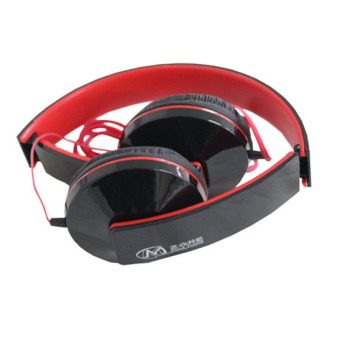 Mzone H-750p Monster Sound Over the Ear Headphones (Black/Red)
