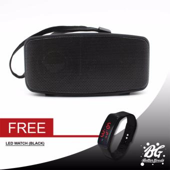 N10 Extreme Bluetooth FM Speaker (Black) With Free Led Bracelet Watch (Black)