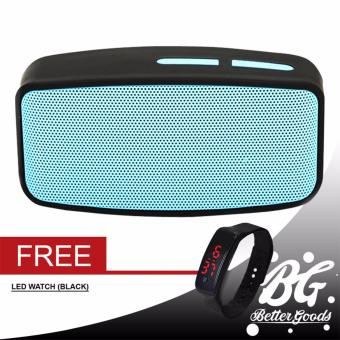 N10 Extreme Bluetooth FM Speaker (Blue) With Free Led Bracelet Watch (Black)